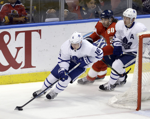 Marchessault scores twice, Panthers beat Maple Leafs 7-2 (Mar 14, 2017)