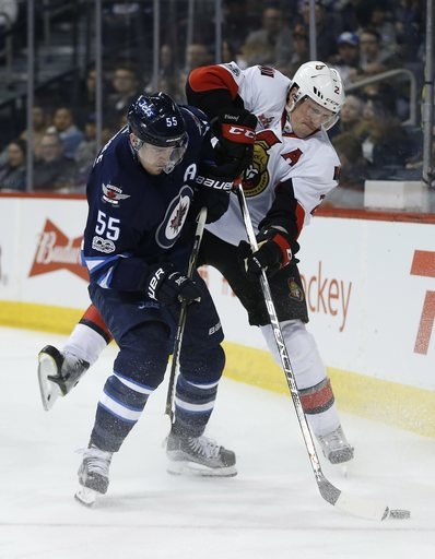 Perreault lifts Jets to fourth straight win, 4-2 over Sens (Apr 01, 2017)