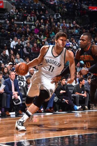 Lopez, Nets spoil Millsap's return with 91-82 win over Hawks (Apr 02, 2017)