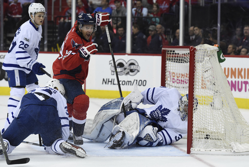 Wilson scores in OT as Caps survive scare to beat Leafs (Apr 13, 2017)