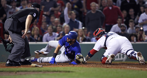Bogaerts scores twice on wild pitches, Red Sox thump Rangers (May 23, 2017)
