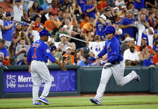 Arrieta beats former team, pitches Cubs over Orioles 10-3 (Jul 15, 2017)
