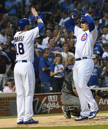 Lester homers as Cubs pound Diamondbacks 16-4 (Aug 01, 2017)
