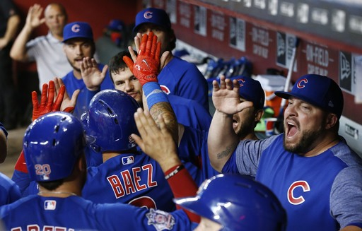 Arrieta tops D-backs 7-2; Cubs reopen 1-game NL Central lead (Aug 13, 2017)