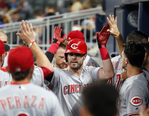 Romano sharp as Reds hit 3 HRs in 6th, beat Braves 5-3 (Aug 18, 2017)