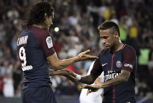 Cavani and Neymar combine as PSG beats Saint-Etienne 3-0