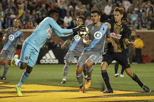 Blake has 8 saves, Union play Red Bulls to scoreless draw (Sep 17, 2017)