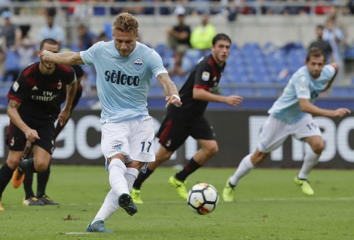 Immobile shows off his arsenal with hat trick vs. AC Milan