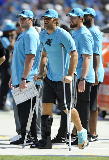 Panthers' Olsen out with broken right foot