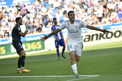 Ceballos scores 2 in first start as Real Madrid win