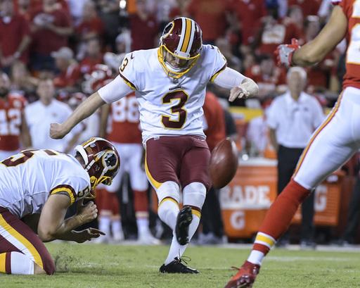 Redskins put Dustin Hopkins on IR, sign Nick Rose to kick
