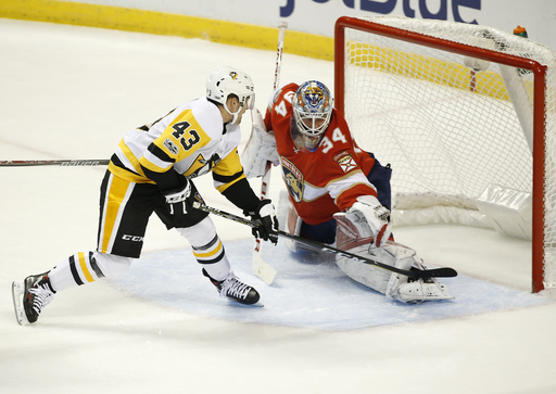 Conor Sheary lifts Penguins past Panthers, 4-3 (Oct 20, 2017)