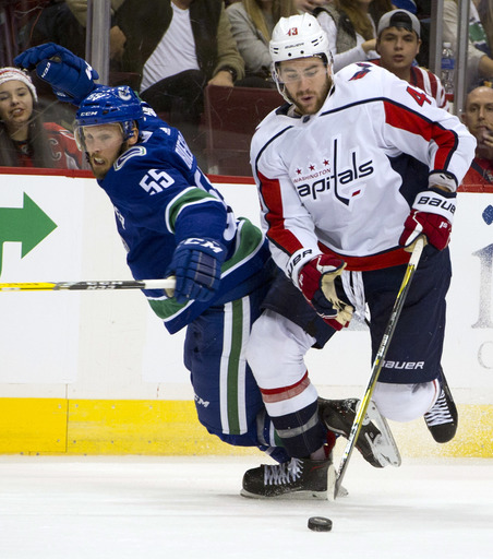 Baertschi leads Canucks past Capitals for 4th straight win (Oct 26, 2017)