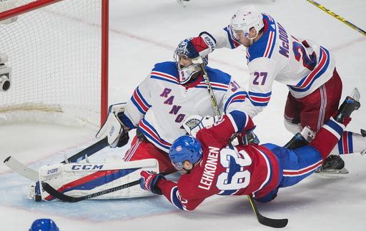 Danault has 2 goals, 2 assists as Canadiens beat Rangers 5-4 (Oct 28, 2017)