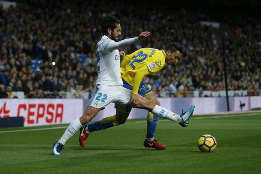 Real Madrid restores order with 3-0 win over Las Palmas