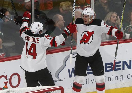Moore gives Devils 4-3 overtime win against Wild (Nov 20, 2017)