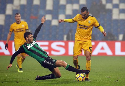 Relegation-threatened Sassuolo fires coach Cristian Bucchi