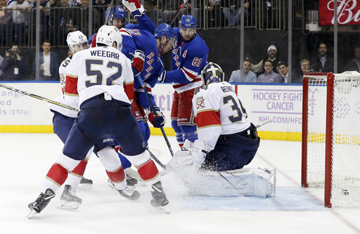Malgin's late goal lifts Panthers to 5-4 win over Rangers (Nov 28, 2017)