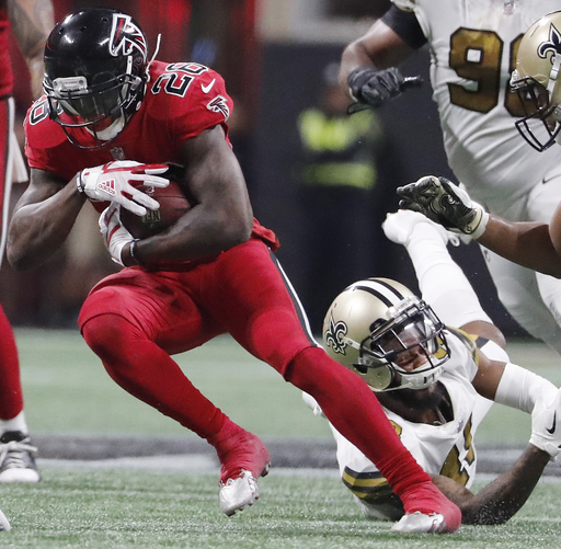 Falcons running back Tevin Coleman in concussion protocol