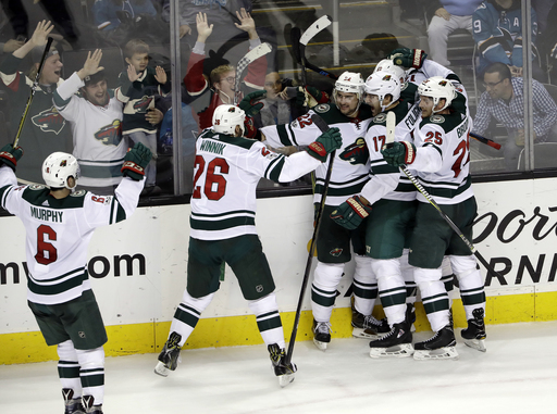 Niederreiter gives Wild 4-3 win over Sharks in OT (Dec 10, 2017)