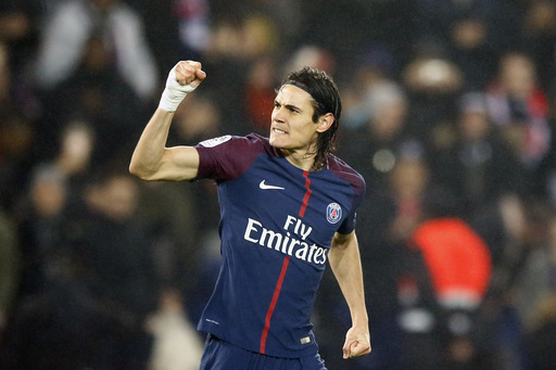 Cavani moves 1 behind Ibrahimovic's record as PSG wins 3-1