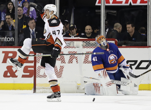 Lindholm completes hat trick in OT as Ducks beat Isles 5-4 (Dec 21, 2017)