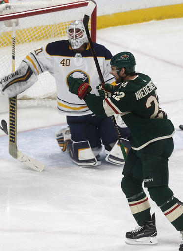 Niederreiter's hat trick fuels Wild in 6-2 win vs Sabres (Jan 04, 2018)