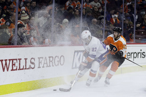 Ivan Provorov leads feisty Flyers to 6-4 win over Islanders (Jan 04, 2018)