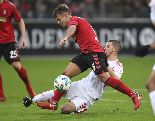 Cologne boosts survival hopes, Leverkusen 2nd in Bundesliga