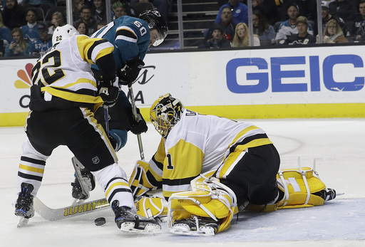 Dell's 31 saves help Sharks beat Penguins 2-1 (Jan 20, 2018)