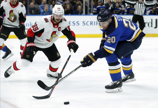 Hutton bounces back with shutout, Blues blank Senators 3-0 (Jan 23, 2018)