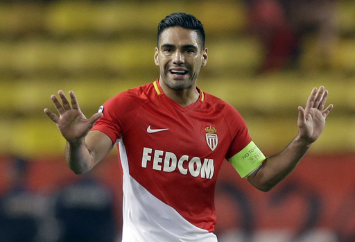 Monaco top scorer Falcao out injured for up to 3 weeks