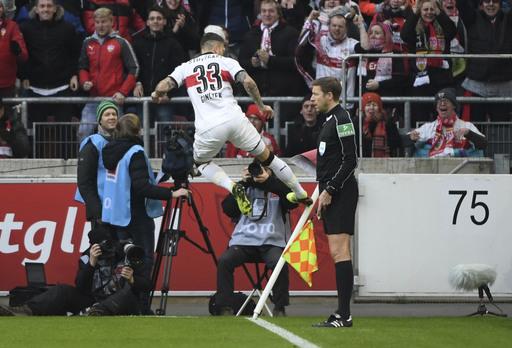 Stuttgart beats 'Gladbach to ease Bundesliga relegation fear