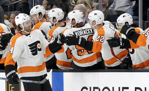 Couturier has goal, 2 assists as Flyers beat Vegas, 4-1