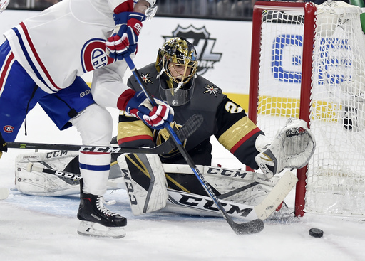 Smith leads Golden Knights to 6-3 win over Canadiens
