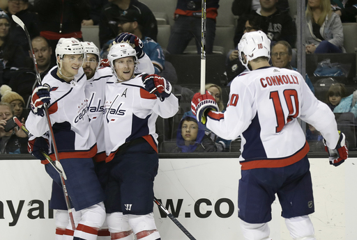 Grubauer's 24 saves lead Capitals past Sharks 2-0