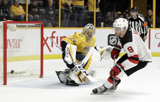 Boyle's shootout winner leads Devils past Predators, 3-2