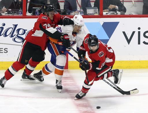 Ladd's late goal lifts Islanders to 4-3 win over Senators