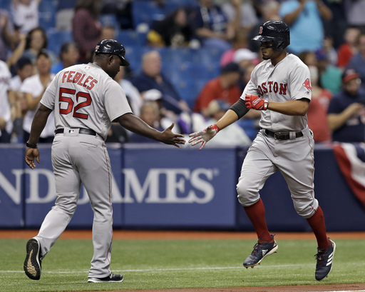Hot-hitting Bogaerts homers, Red Sox hold off Rays 3-2