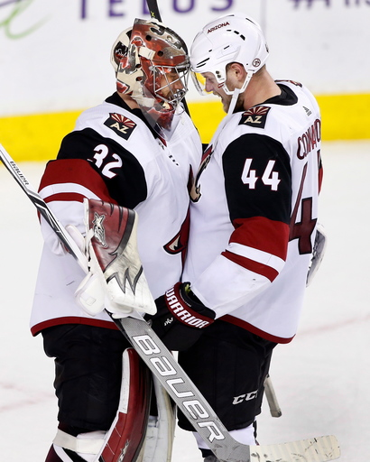 Connauton scores again to lift Coyotes over Flames 4-1