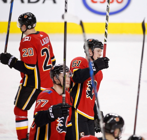 Jankowski scores 4 as Flames beat Golden Knights 7-1