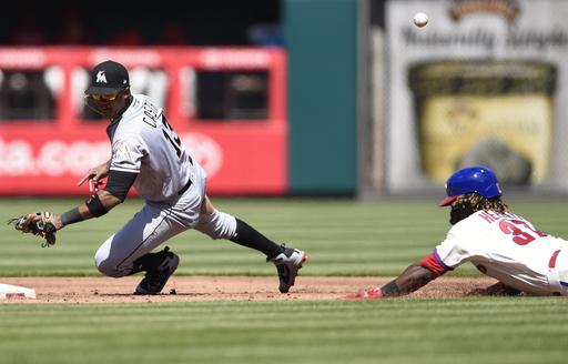 Marlins spoil Jake Arrieta's debut, beat Phillies 6-3
