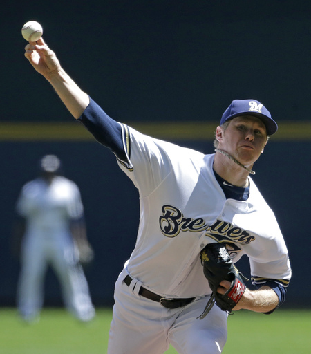 Brewers RHP Anderson scratched with illness; Suter starts