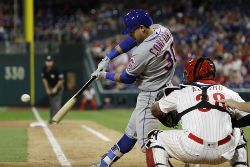 Conforto's 9th-inning HR lifts Mets over Neris, Phils 3-1