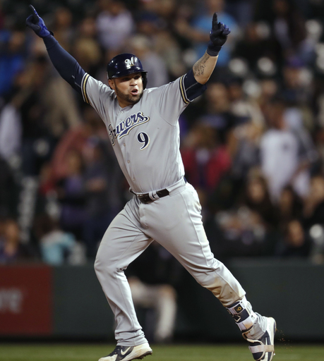 Pina hits tying HR in 9th, Brewers beat Rockies 11-10 in 10