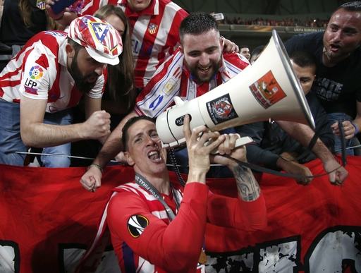 Torres scores twice in final game with Atletico Madrid