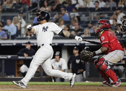 Torres homers in 4th straight game as Yankees top Angels 2-1
