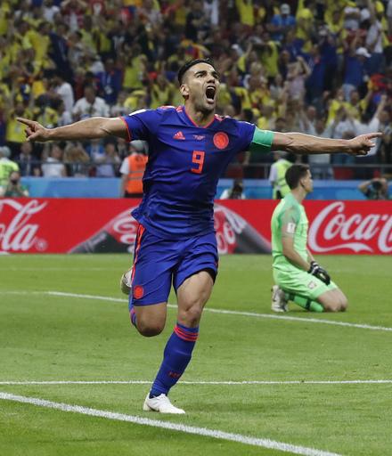 Falcao scores, Colombia beats Poland 3-0 at World Cup (Jun 24, 2018)