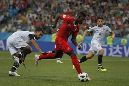 The Latest: Embolo back at World Cup after parental leave