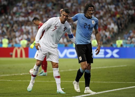 Uruguay forward Edinson Cavani has left calf injury